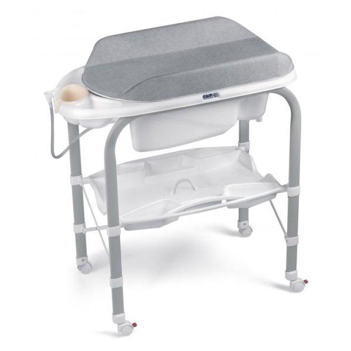 Пеленальный столик с ванночкой CAM Cambio C244 Серый меланж