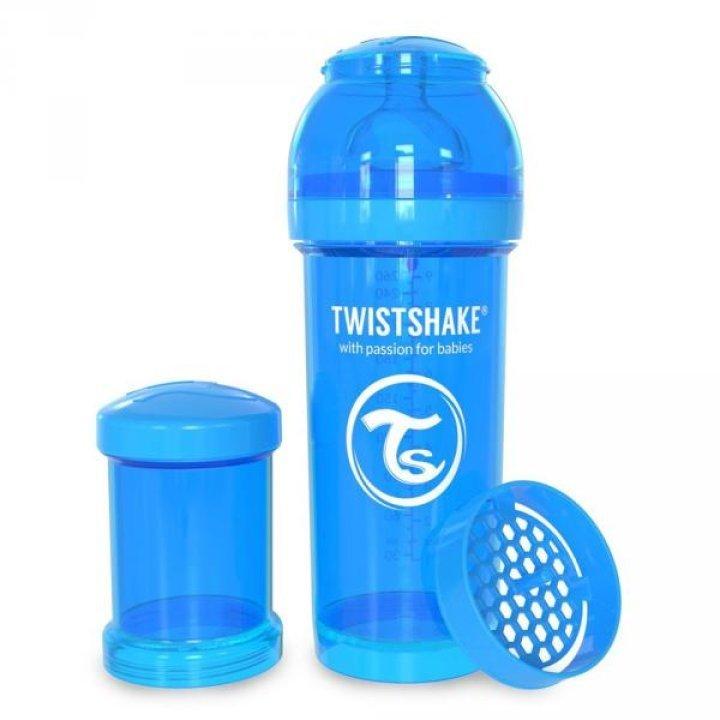 Twistshake антиколиковая бутылочка 260мл Голубая (78008 )