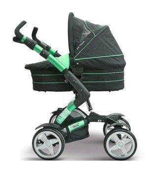 Универсальная коляска 2 в 1 ABC design 4 Tec Avocado (черный с зеленым)