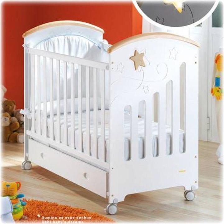 Детская кроватка Micuna Polar Белый/натуральный