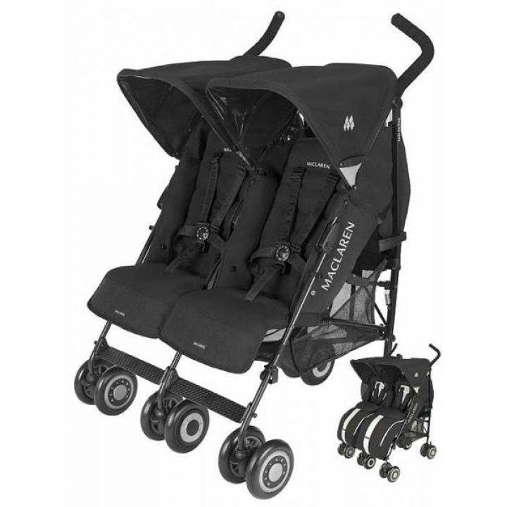 Прогулочная коляска для двойни Maclaren Twin Techno Black