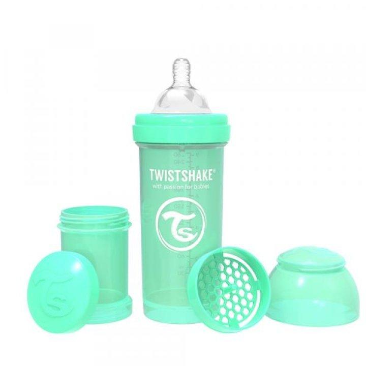 Twistshake антиколиковая бутылочка 260мл Мятная (78257)