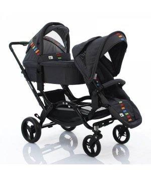 Универсальная коляска 2 в 1 для двойни ABC design Zoom с люльками Multicolor 2014