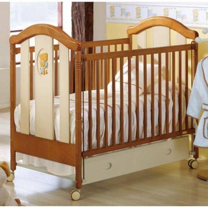 Детская кроватка Micuna Fantasia Luxe Кремово-кофейный