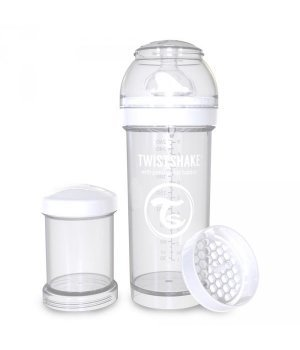 Twistshake антиколиковая бутылочка 260мл Белая (78012)