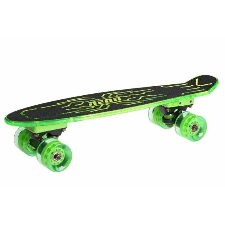Скейтборд Neon Hype Зеленый N100789