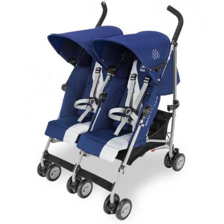 Прогулочная коляска для двойни Maclaren Twin Triumph Blue/Silver