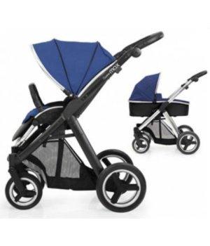 Универсальная коляска 2 в 1 BabyStyle Oyster Max Navy / Mirror (Синяя)