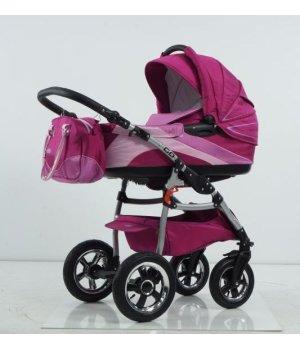 Универсальная коляска 2 в 1 Tako Ingis Go Stal PC 07 (фиолетово-сиреневый с розовым)