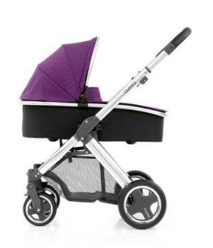 Универсальная коляска 2 в 1 BabyStyle Oyster 2 Wild Purple / Mirror Black (Сиреневая)