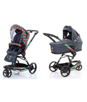 Универсальная коляска 2 в 1 ABC design 3 Tec Plus Rainbow