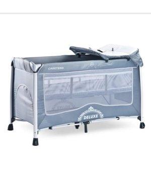 Кровать-манеж Caretero Deluxe grey