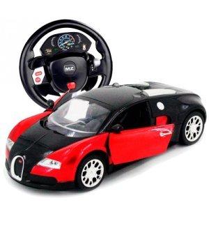 Автомобиль на радиоуправлении Bugatti Veyron, 1:14 (гиро-руль), MZ Meizhi красный