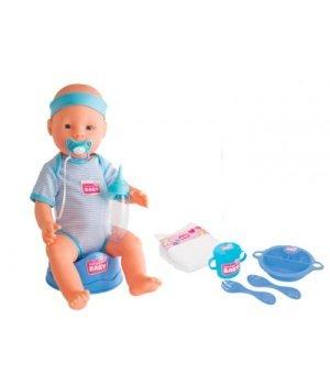Кукла-пупс Симба Уход за малышом, 43 см, New Born Baby