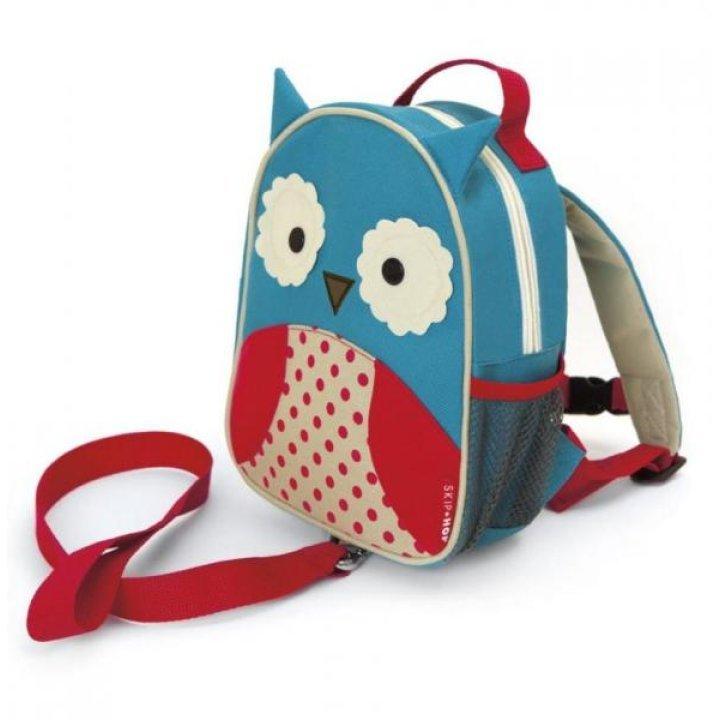 Детский рюкзак с ремешком безопасности Skip Hop Zoo Совёнок (212204)