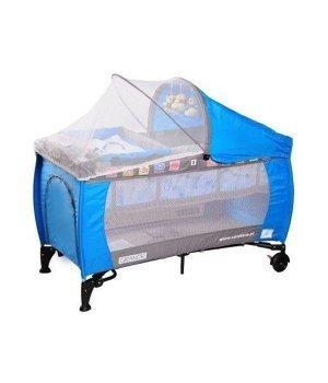 Детская кроватка манеж Caretero Grande blue