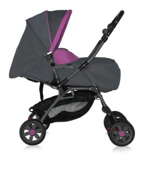 Коляска трансформер 2 в 1 Bertoni Combi Just4Kids grey purple pisa