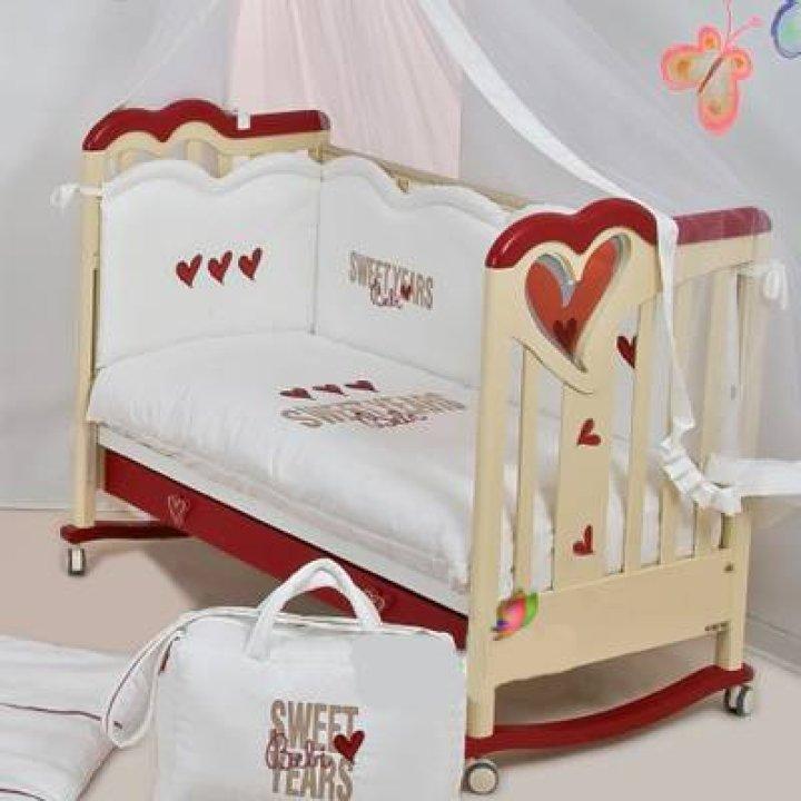 Детская кроватка Sweet Years Bebi Темный орех