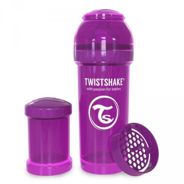 Twistshake антиколиковая бутылочка 260мл Фиолетовая (78011)