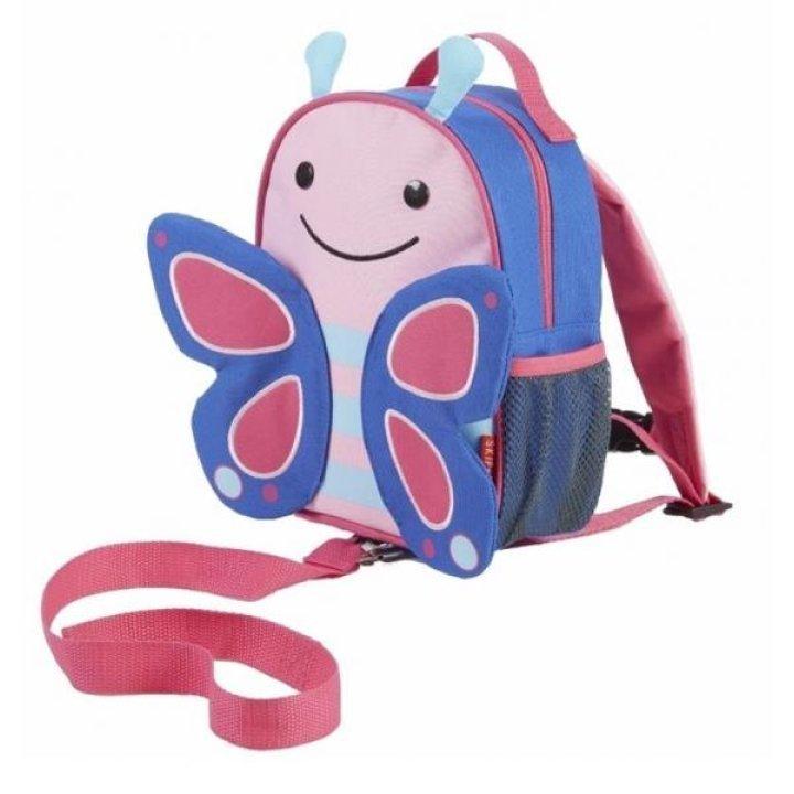 Детский рюкзак с ремешком безопасности Skip Hop Zoo Бабочка (212202)