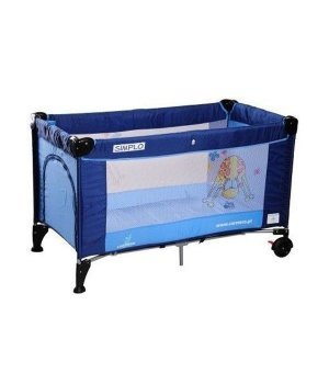 Детская кроватка-манеж Caretero Simplo blue