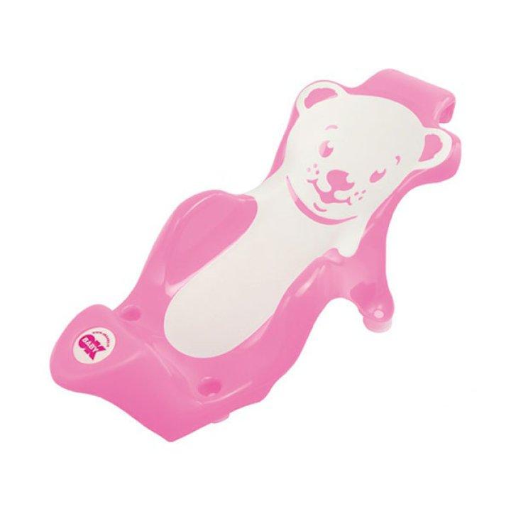 Поддерживающая горка для купания OK Baby Buddy розовый