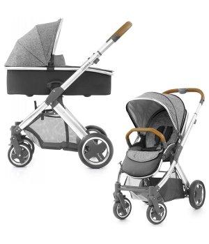 Универсальная коляска 2 в 1 BabyStyle Oyster 2 Wolf Grey / Mirror Tan