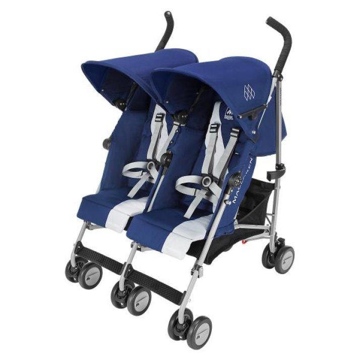 Прогулочная коляска для двойни Maclaren Twin Triumph Medieval Blue/Silver