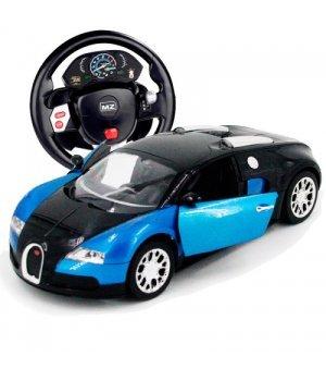 Автомобиль на радиоуправлении MZ Meizhi Bugatti Veyron, 1:14 (гиро-руль) синий