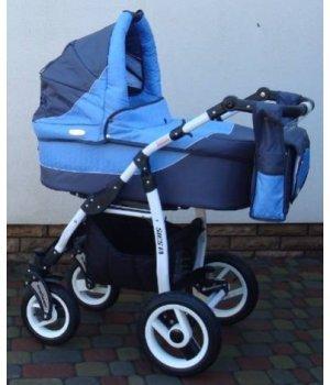 Универсальная коляска 2 в 1 Adbor Siesta 03 (graphite-blue)