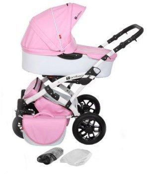 Универсальная коляска 2 в 1 Tutek Tambero ECO кожа Pink