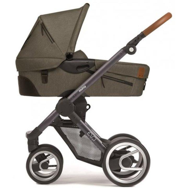 Классическая коляска Mutsy EVO Urban Nomad Dark Olive / Industrial Black Brown