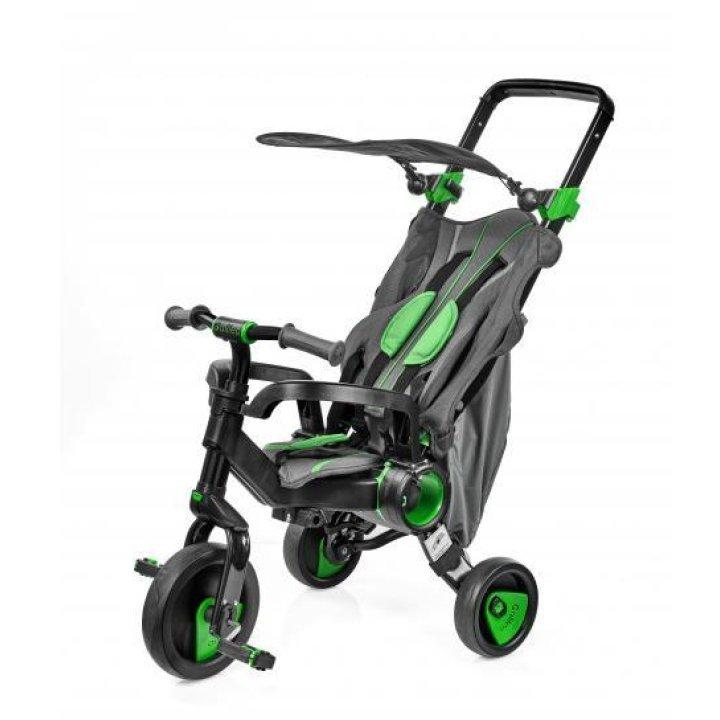 Трехколесный велосипед Galileo Strollcycle Black 2в1 Зеленый