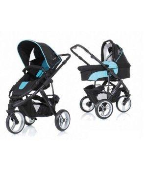 Универсальная коляска 2 в 1 ABC design Cobra Turquoise-black, цвет голубой с черным