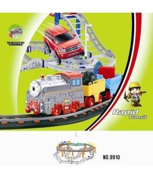 Железная дорога с поездом и машиной LiXin (74х88см)