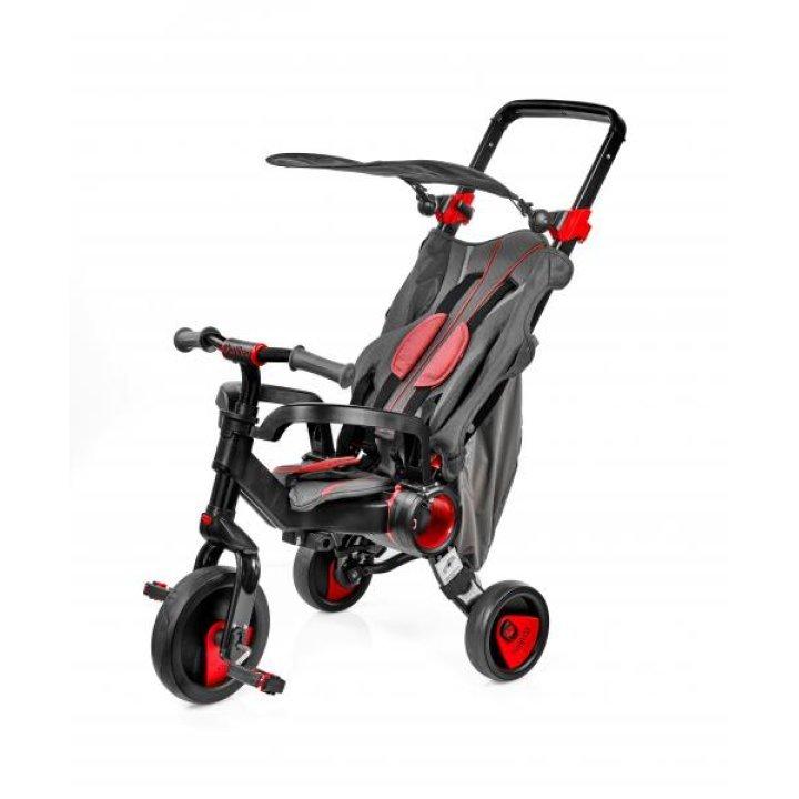Трехколесный велосипед Galileo Strollcycle Black 2в1 Красный