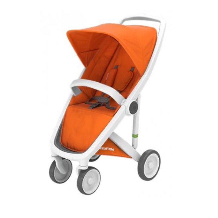 Прогулочная коляска Greentom Upp Classic Orange (Оранжевая) шасси White