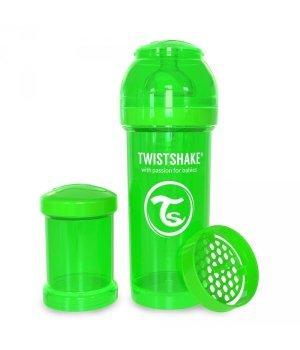 Twistshake антиколиковая бутылочка 180мл Зеленая (78004)