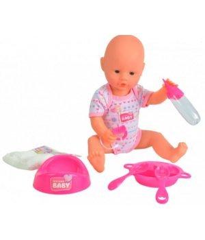 Кукла-пупс девочка с аксессуарами, 38 см, New Born Baby