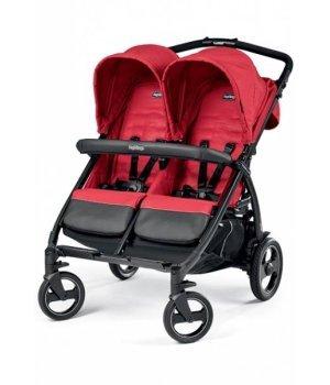 Прогулочная коляска для двойни Peg-Perego Book for Two MOD RED