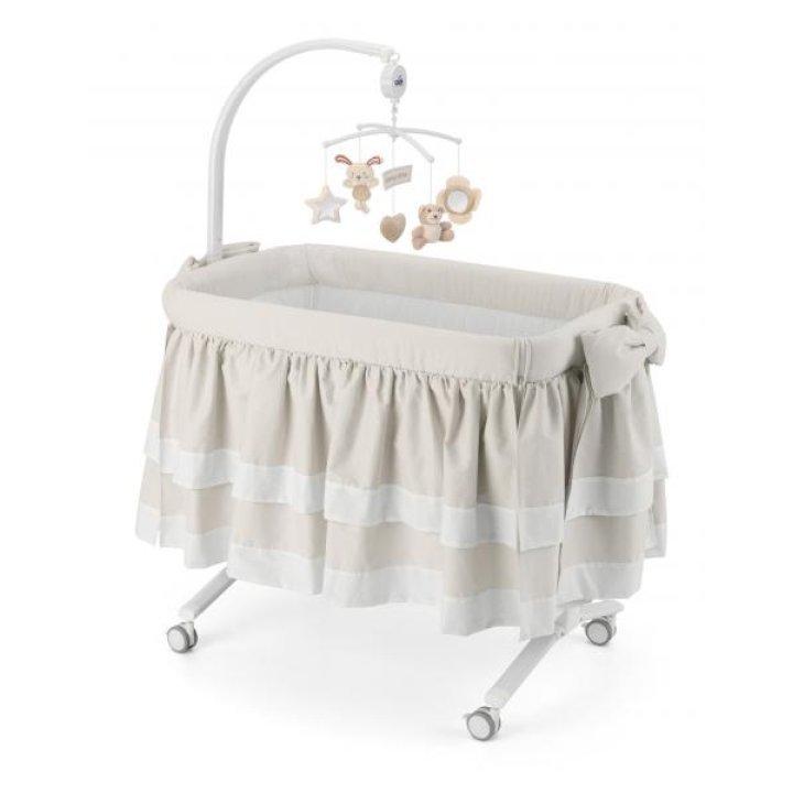 Приставная колыбель-кроватка CAM Cullami LUXE с постелью Бежевая 150