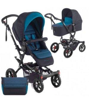 Детская коляска 2 в 1 Jane CROSSWALK MICRO S46 TEAL 2016 (Синяя)