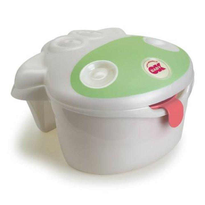 Контейнер для игрушек OK Baby Muggy Белый с салатовым