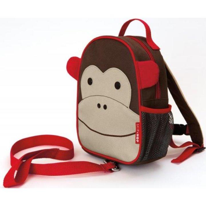 Детский рюкзак с ремешком безопасности Skip Hop Zoo Мартышка (212203)