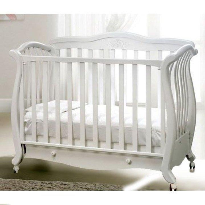 Детская кроватка Baby Italia ANDREA LUX GLITTER Белый