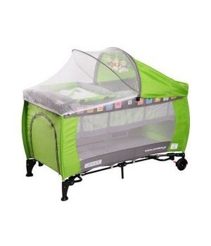 Детская кроватка манеж Caretero Grande green