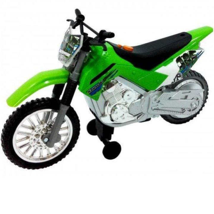 Мотоцикл Kawasaki KLX 140 Moto-Cross Bike со светом и звуком 25 см, Toy State (33412)