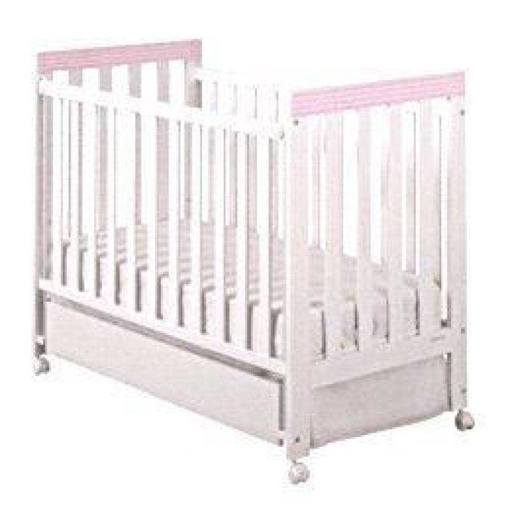 Детская кроватка Micuna Lines Белый с розовым