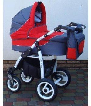 Универсальная коляска 2 в 1 Adbor Siesta 04 (graphite-red)