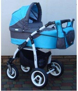 Универсальная коляска 2 в 1 Adbor Siesta 01 (turquoise-graphite)